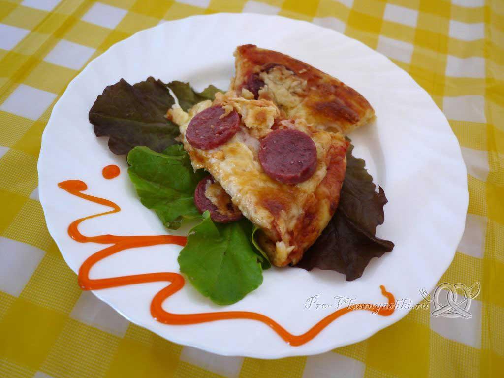 Пицца Пепперони - подача