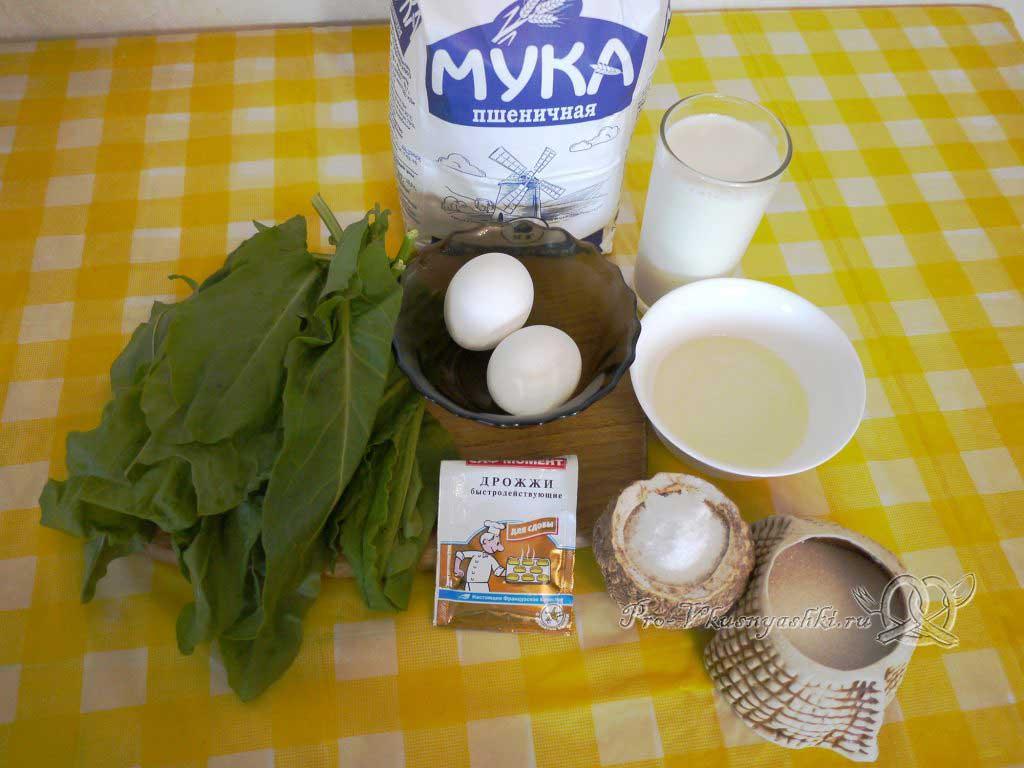 Пирожки с щавелем - ингредиенты