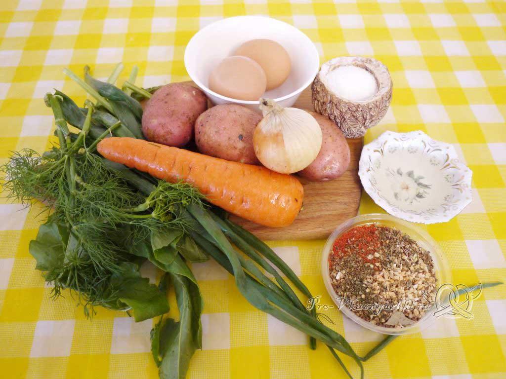 Летние (зеленые) щи с щавелем - ингредиенты