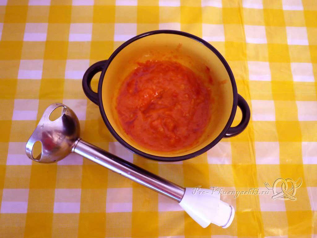 Яичница с помидорами и гренками - соус