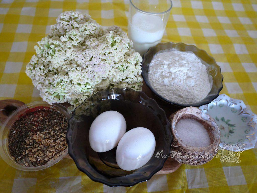 Цветная капуста в кляре на сковороде - ингредиенты