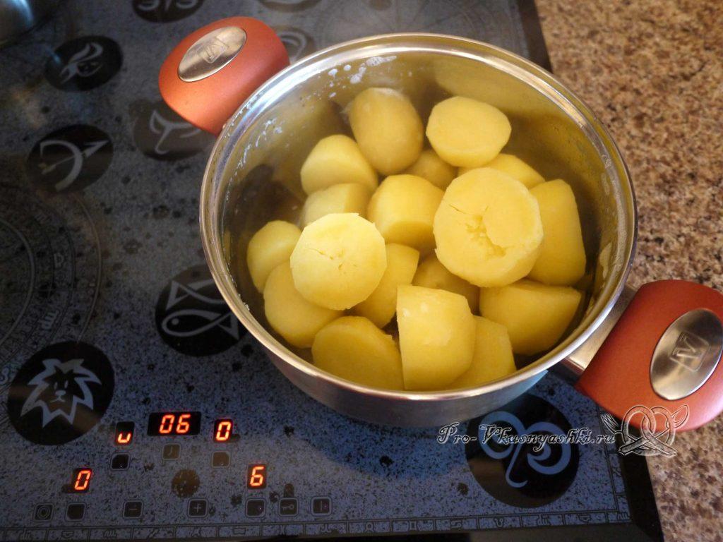 Картофельное пюре с молоком - подсушиваем картофель