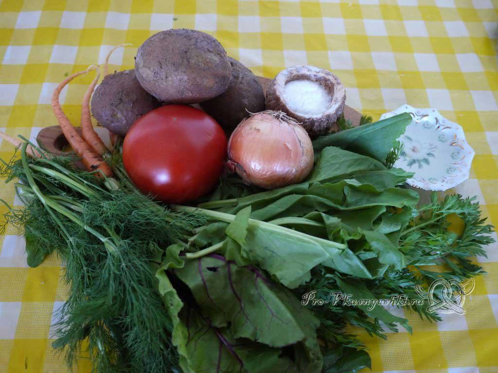 Летний суп с щавелем и ботвой - ингредиенты