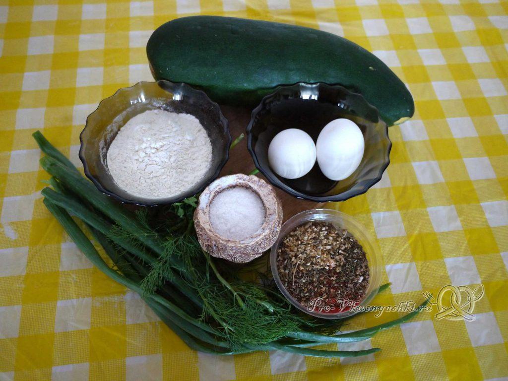 Оладьи из кабачков - ингредиенты