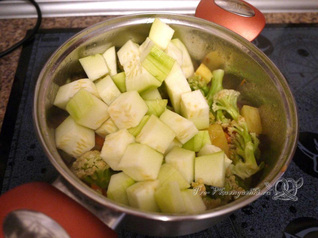 Овощное рагу с кабачками и мясом - тушим кабачок