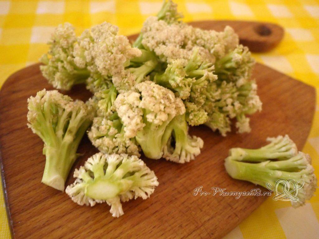 Овощное рагу с кабачками и мясом - разбираем капусту на соцветия