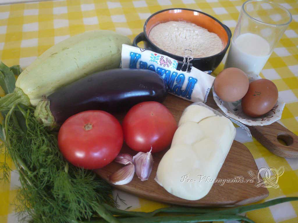 Рулет из кабачков в духовке - ингредиенты