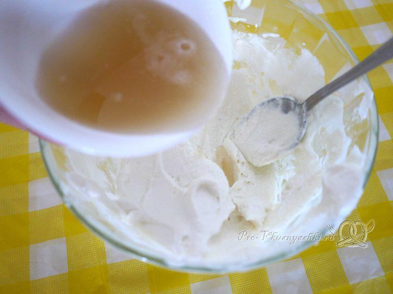 Творожный торт с желатином и малиной - добавляем желатин в творожную начинку