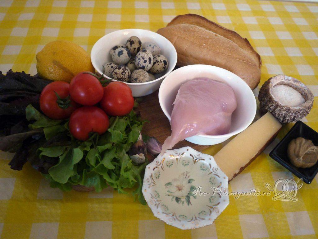 Салат Цезарь в домашних условиях - ингредиенты