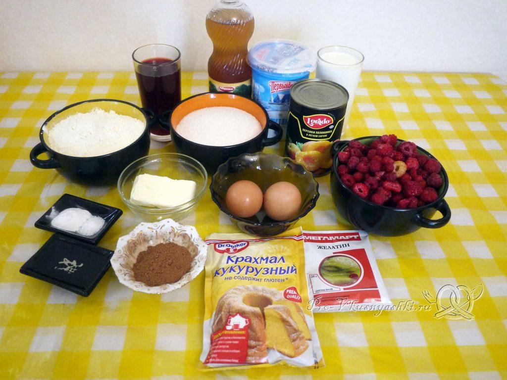 Шоколадный торт с желейной прослойкой - ингредиенты
