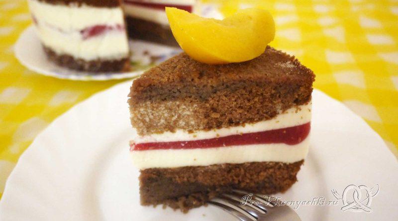 Шоколадный торт с желейной прослойкой - готовое блюдо