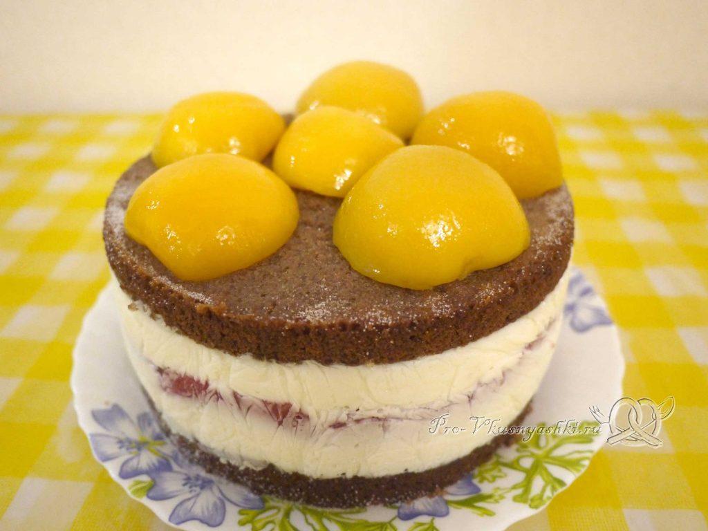 Шоколадный торт с желейной прослойкой - украшаем торт
