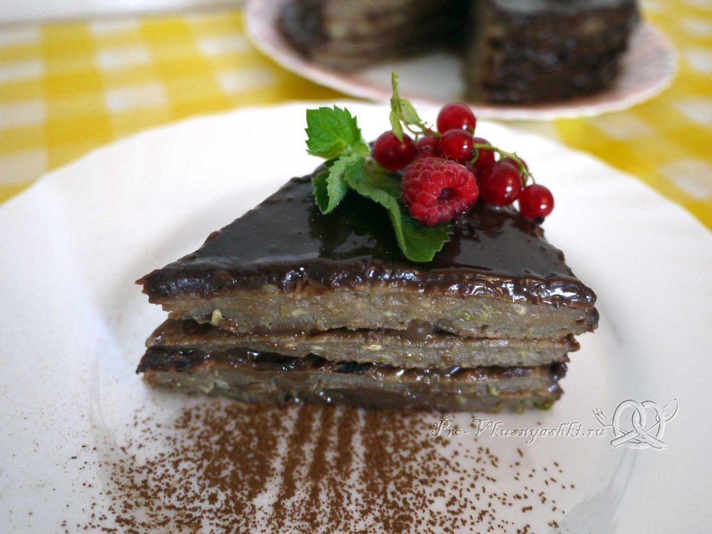 Сладкий торт из кабачков - подача