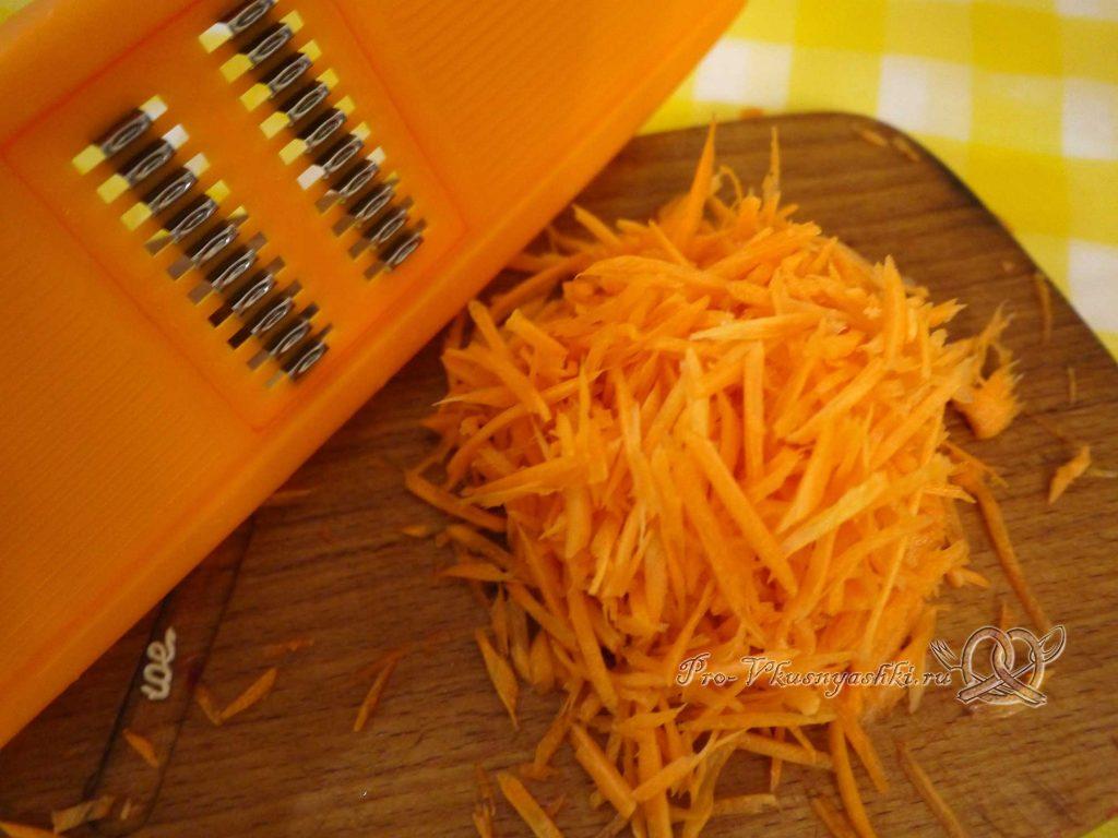 Борщ классический с мясом - натираем морковь