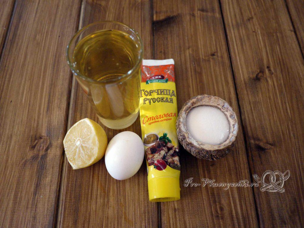 Домашний майонез с яйцом и горчицей - ингредиенты