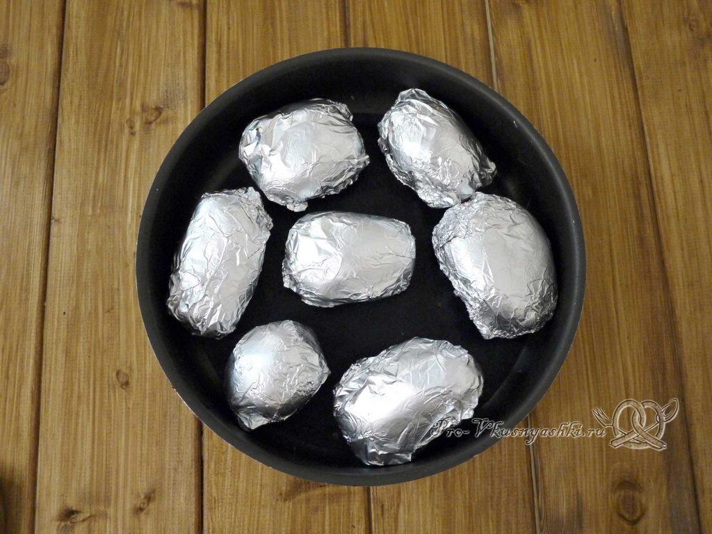 Картофель запеченный в духовке в фольге - картофель в фольге