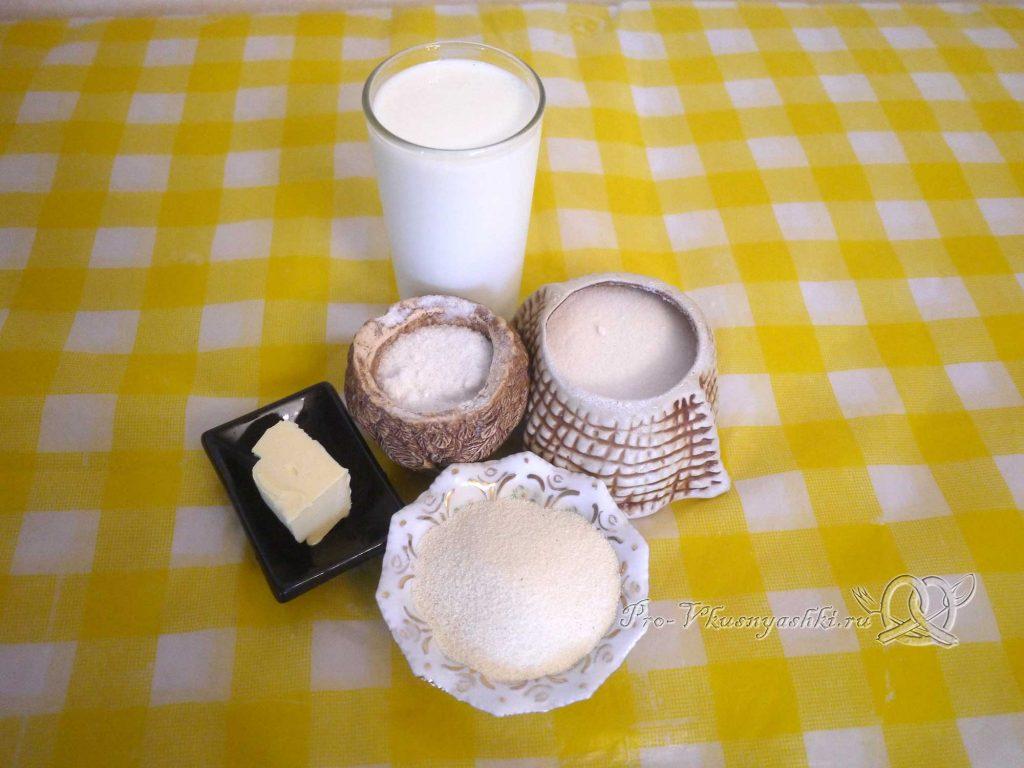 Манная каша на молоке без комочков - ингредиенты