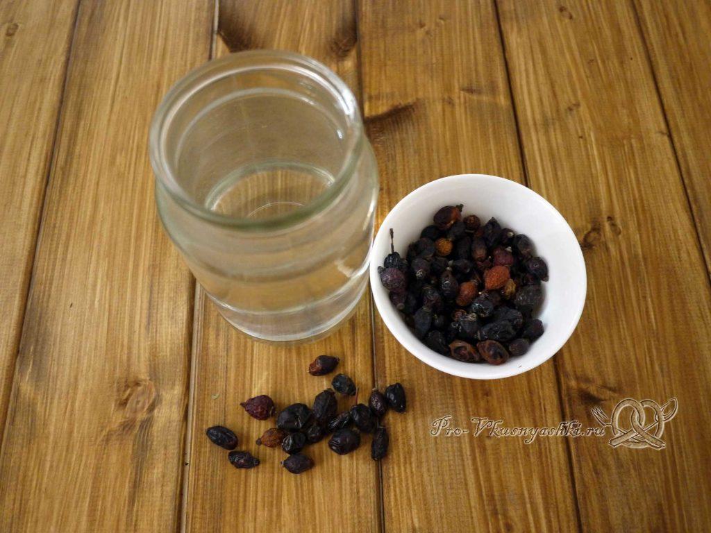 Отвар шиповника из сухих плодов - ингредиенты
