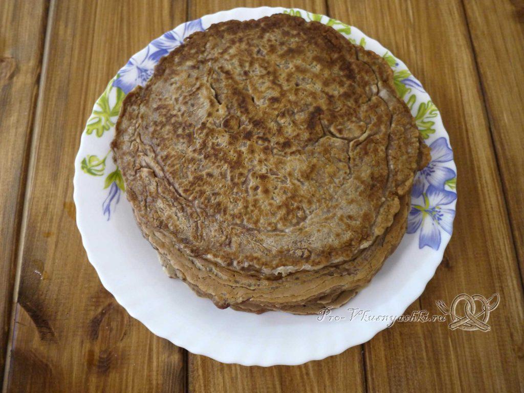 Печеночный торт с морковью и луком - печеночные блины