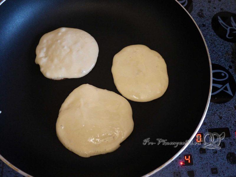 Пышные панкейки на молоке - выпекаем панкейки с одной стороны