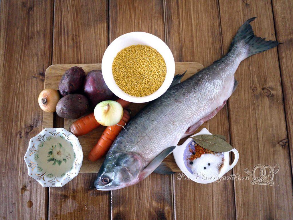 Рыбный суп из горбуши с пшеном - ингредиенты