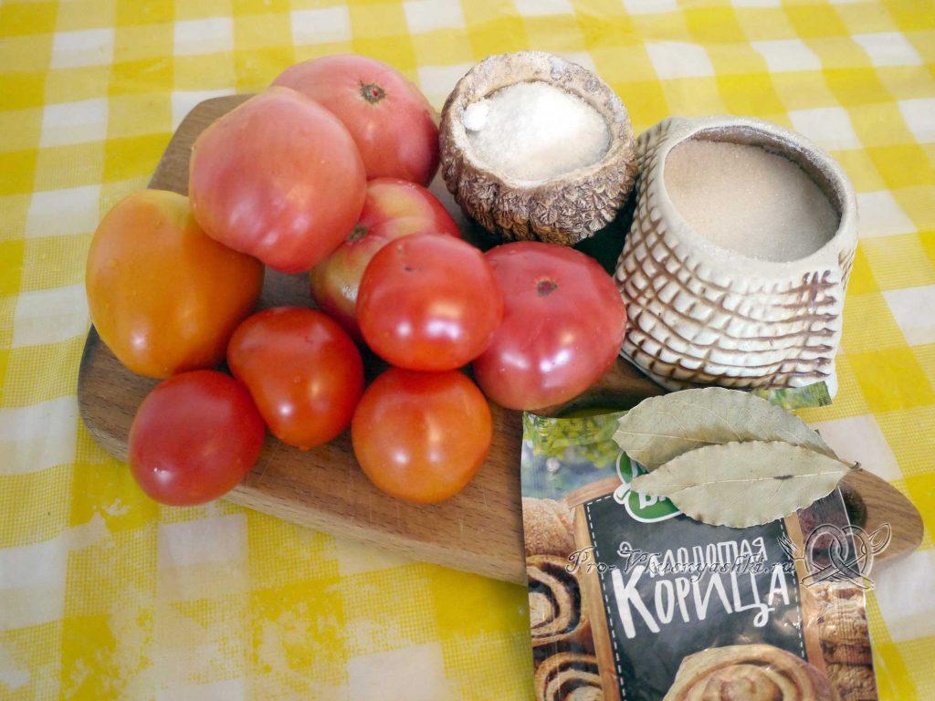 Соленые помидоры на зиму с корицей - ингредиенты