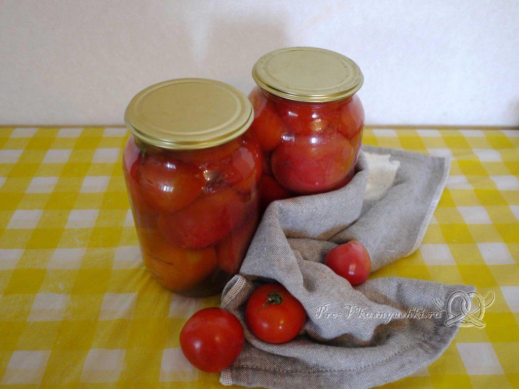 Соленые помидоры на зиму с корицей - подача