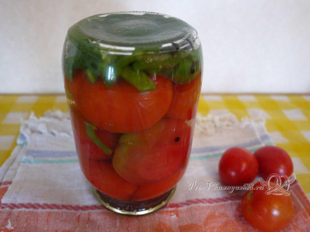 Вкусные маринованные помидоры на зиму с перцем - остужаем помидоры