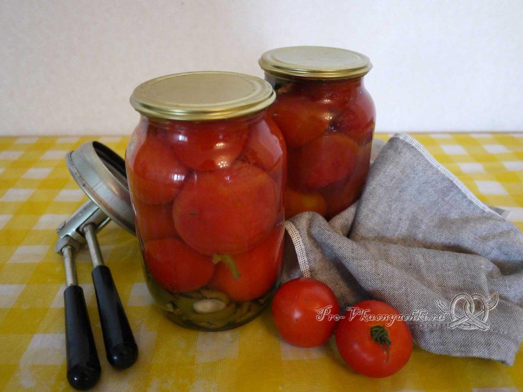 Вкусные маринованные помидоры на зиму с перцем - подача