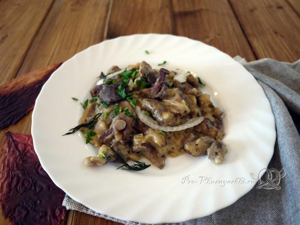 Грибы в сметане по-смоленски - готовое блюдо