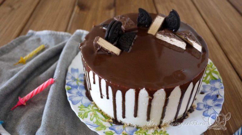 Торт «Птичье молоко» с желатином - подача