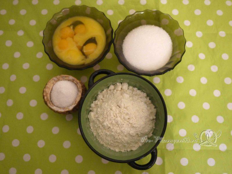 Торт «Птичье молоко» с желатином - смешиваем ингредиенты теста