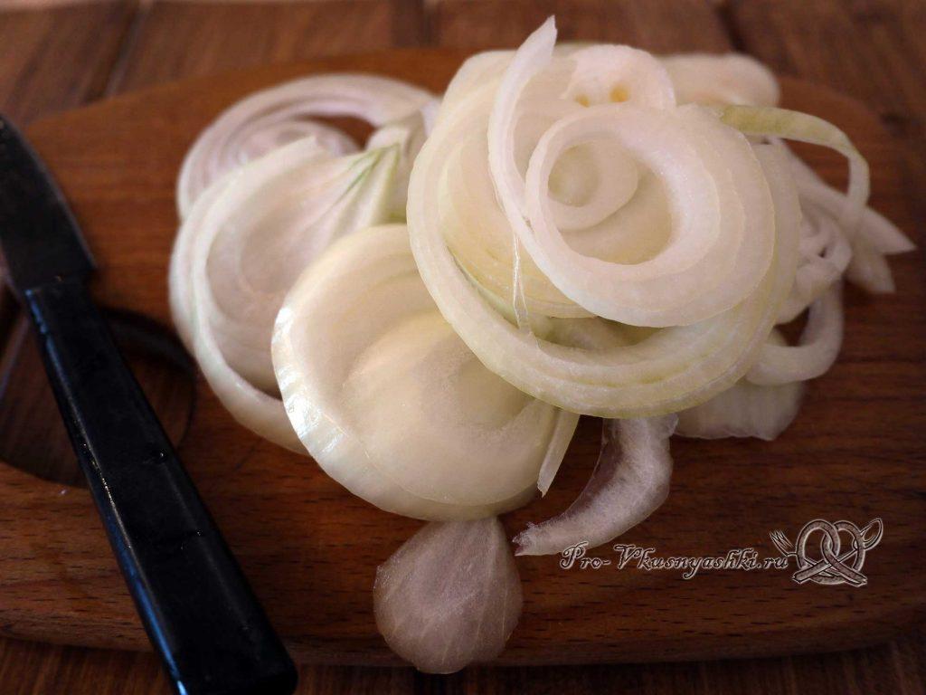 Бешбармак в домашних условиях - нарезаем лук