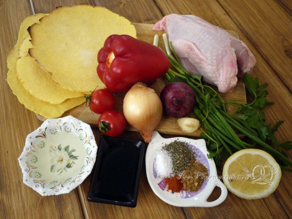 Фахитос с курицей - ингредиенты