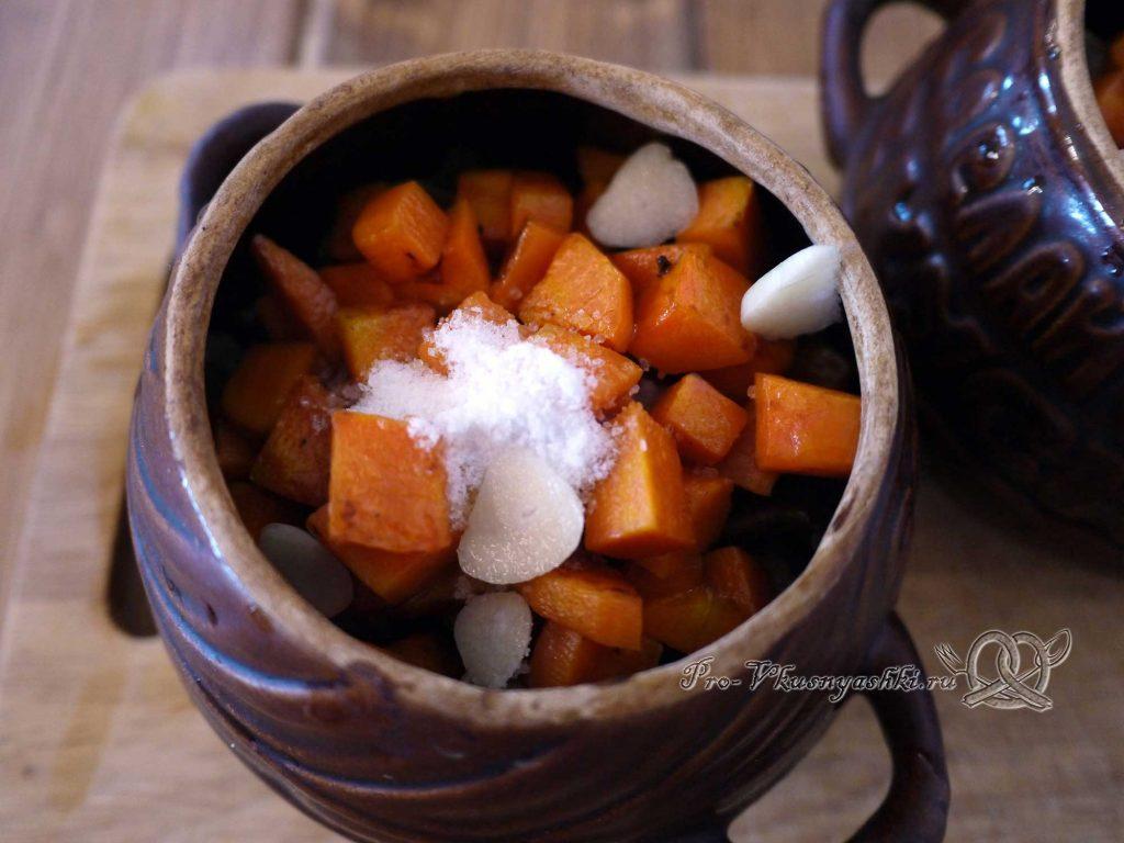 Гречка с мясом и грибами в горшочке - добавляем соль