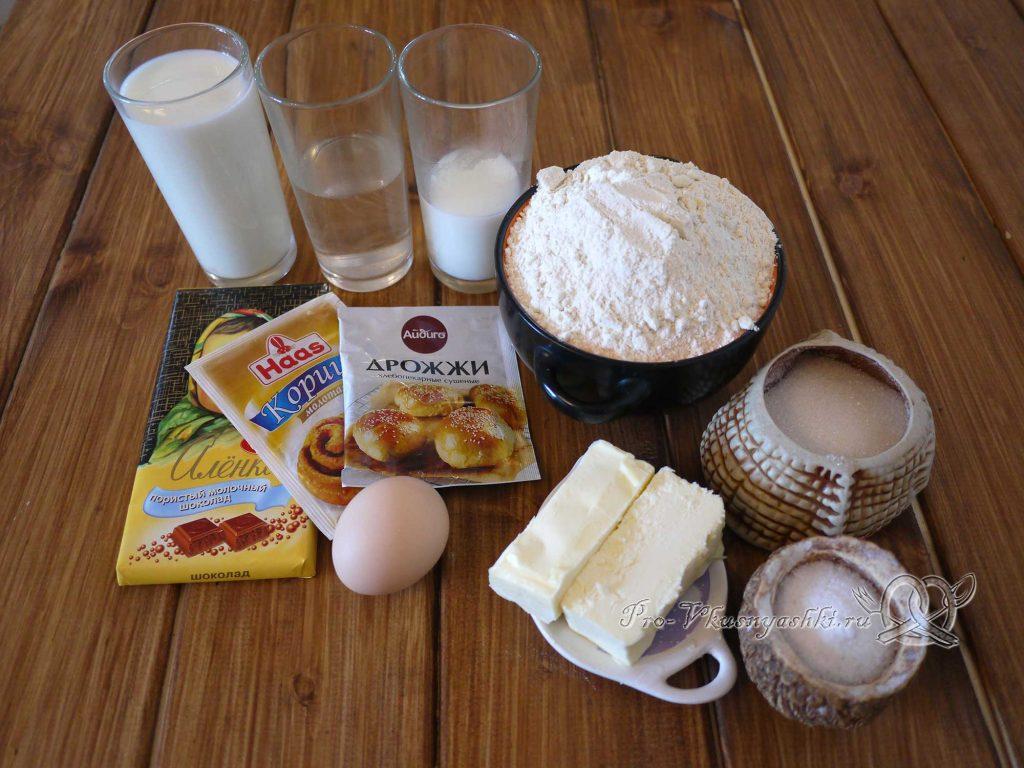 Булочки синнабон с корицей и карамелью - ингредиенты