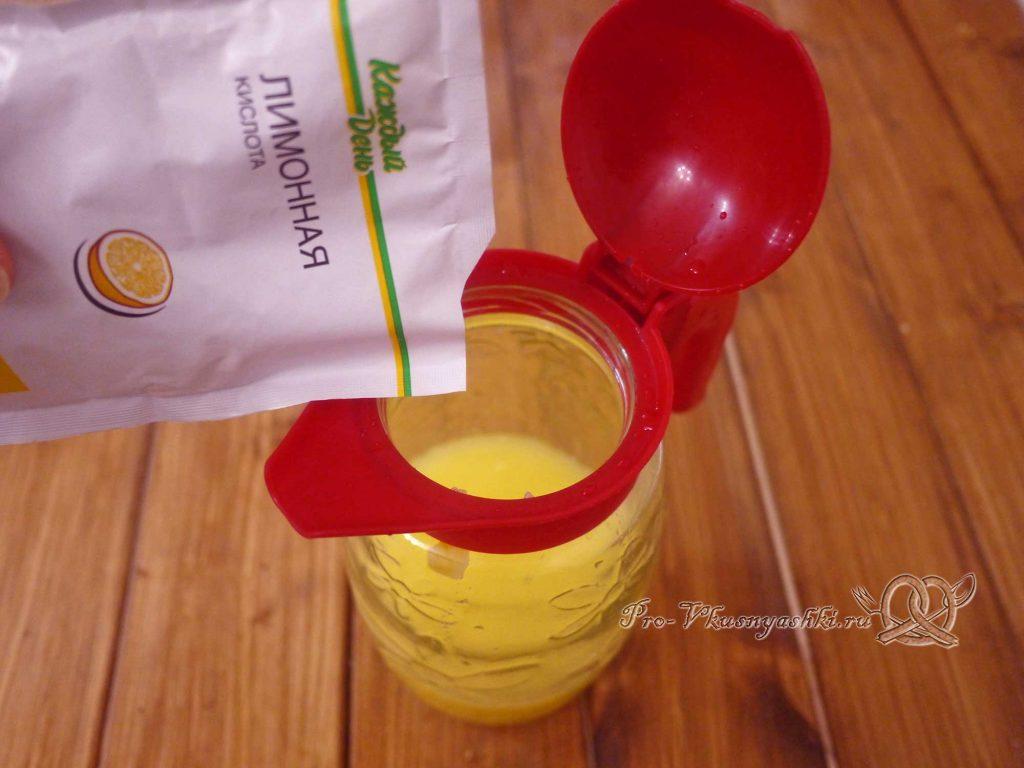 Домашний лимонад из апельсинов - добавляем лимонную кислоту