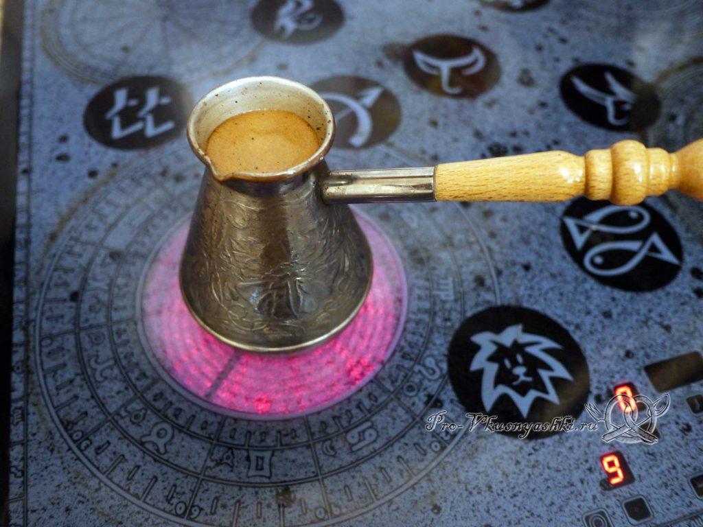 Как правильно сварить кофе в турке - кофе сварился