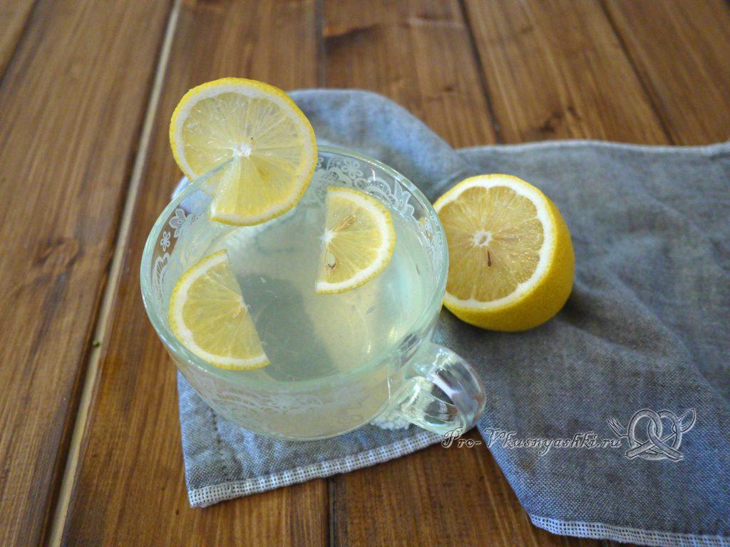 Напиток из меда и лимона - подача