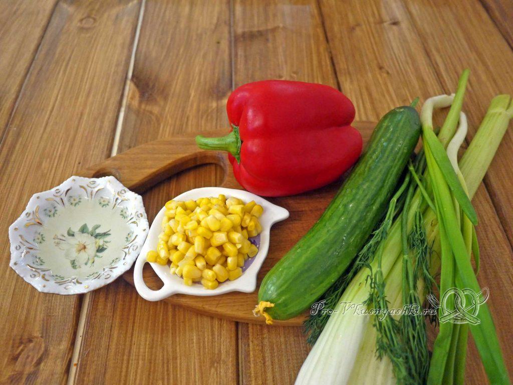 Салат с сельдереем и кукурузой - ингредиенты