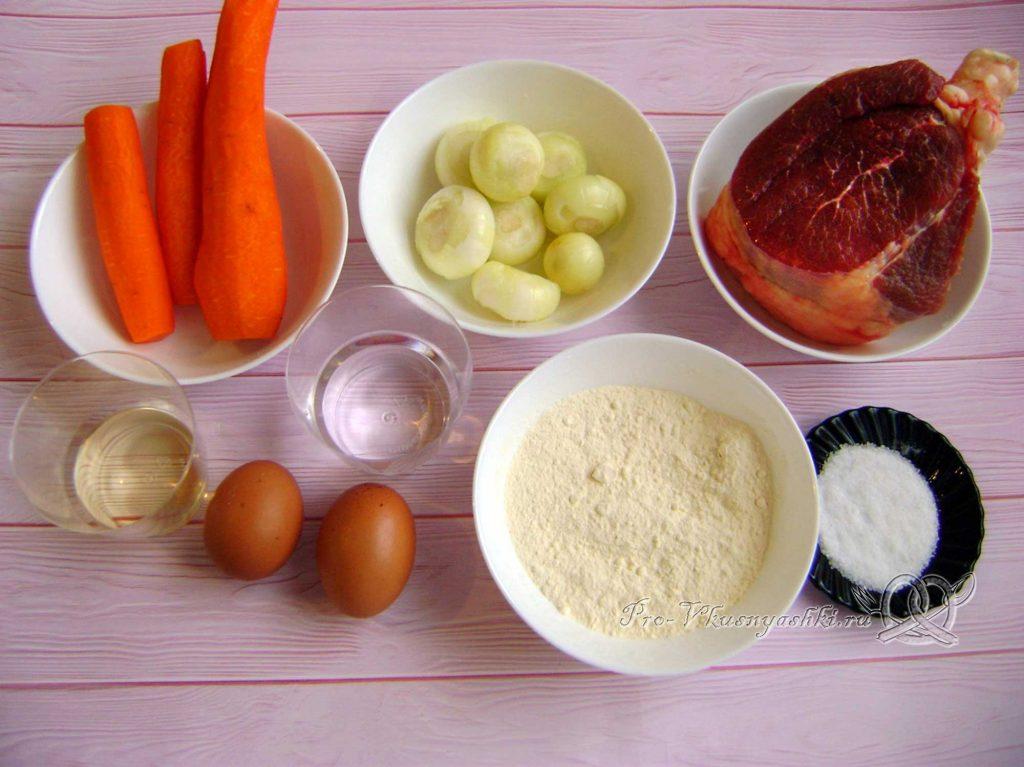 Суп Куллама с говядиной - ингредиенты