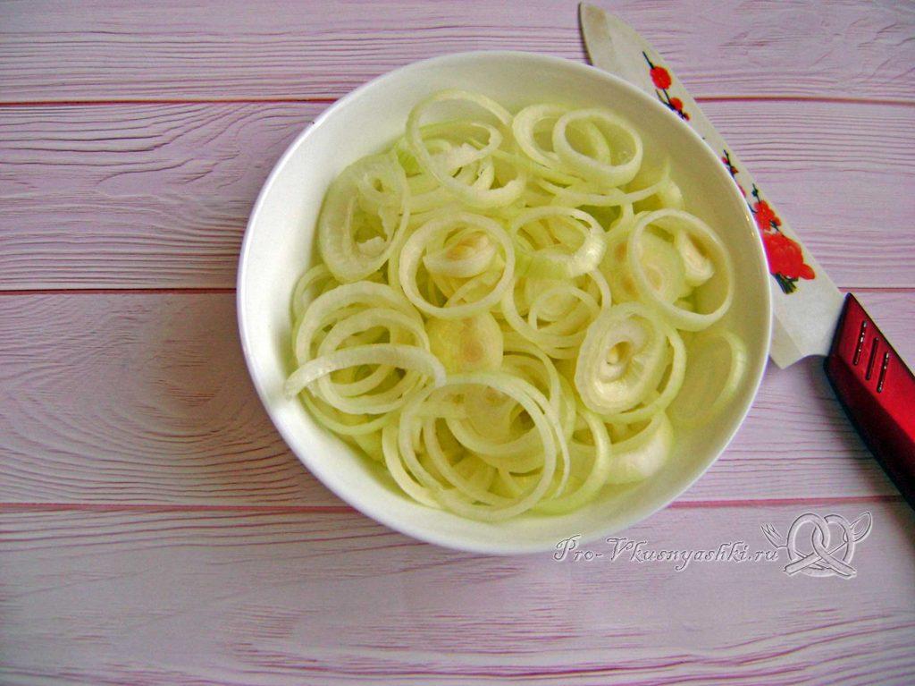 Суп Куллама с говядиной - нарезаем лук