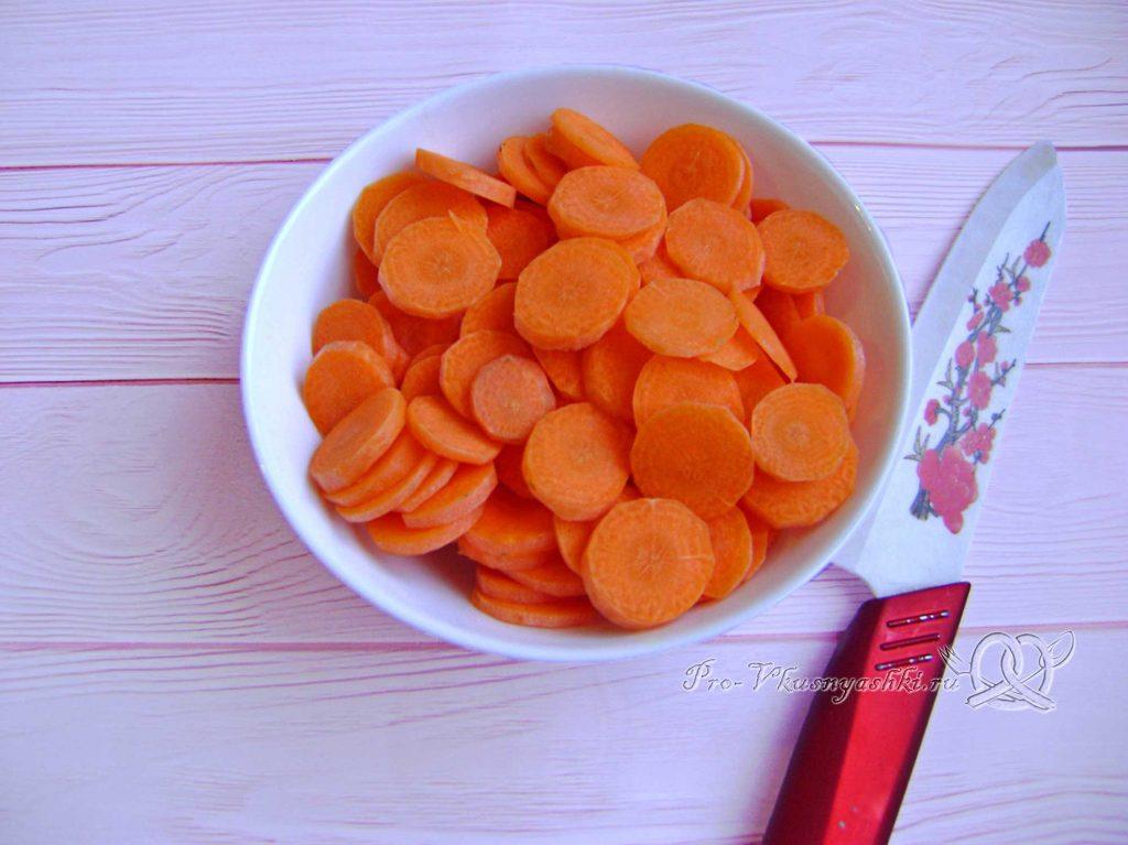 Суп Куллама с говядиной - нарезаем морковь