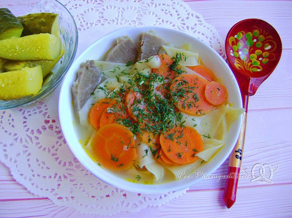 Суп Куллама с говядиной - подача