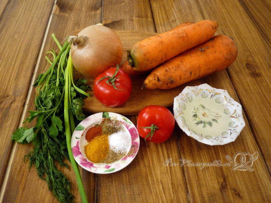 Тушеная морковь с луком - ингредиенты