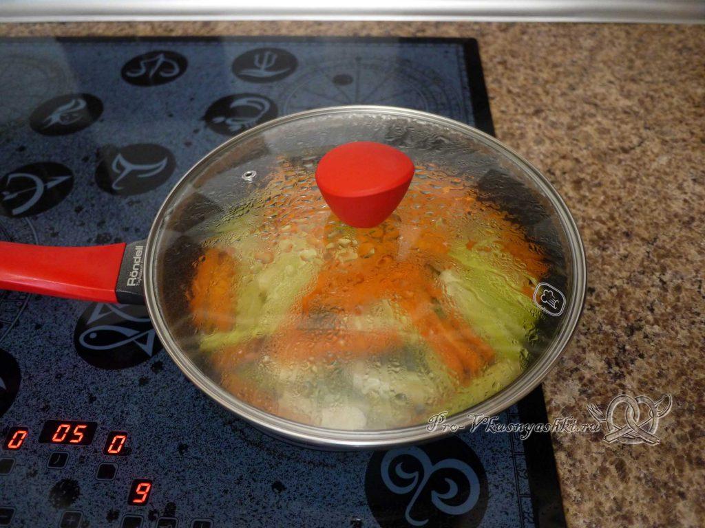 Грудки индейки запеченные в духовке с овощами - тушим овощи