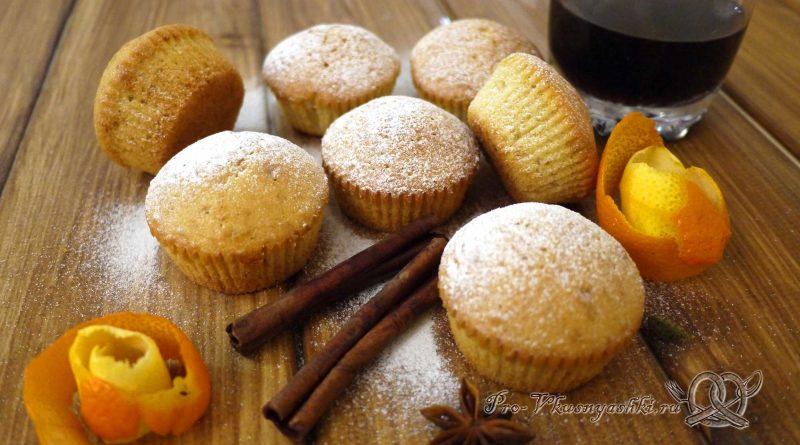 Маффины в домашних условиях - посыпаем сахарной пудрой
