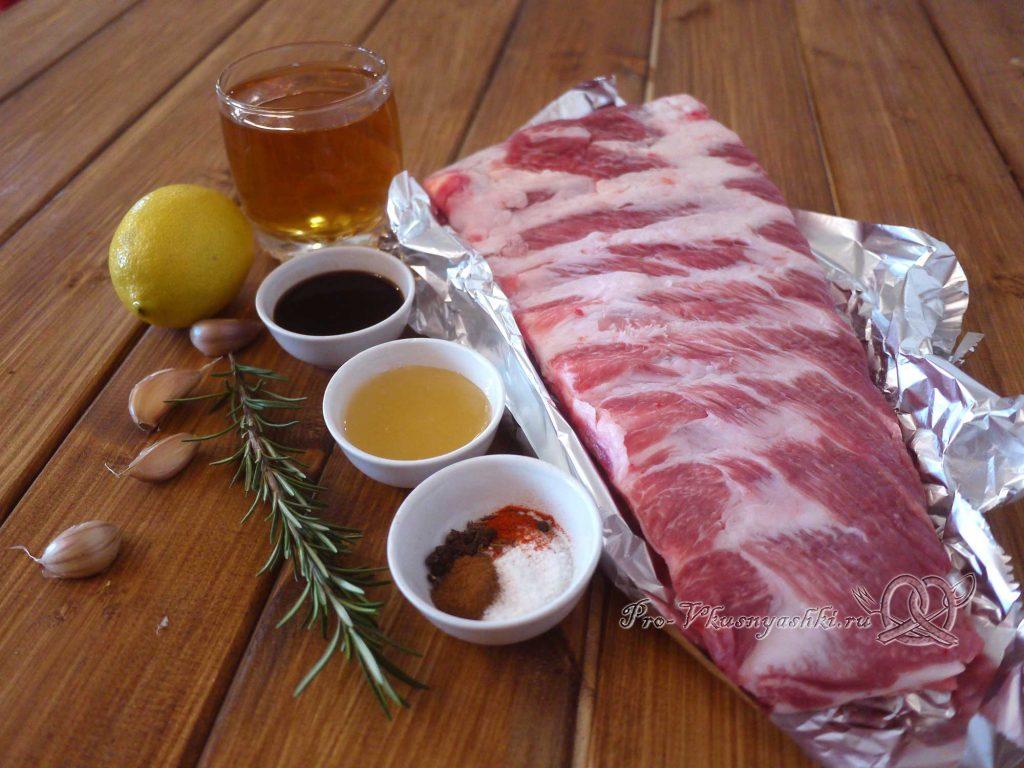 Свиные ребра запеченные в духовке в маринаде - ингредиенты