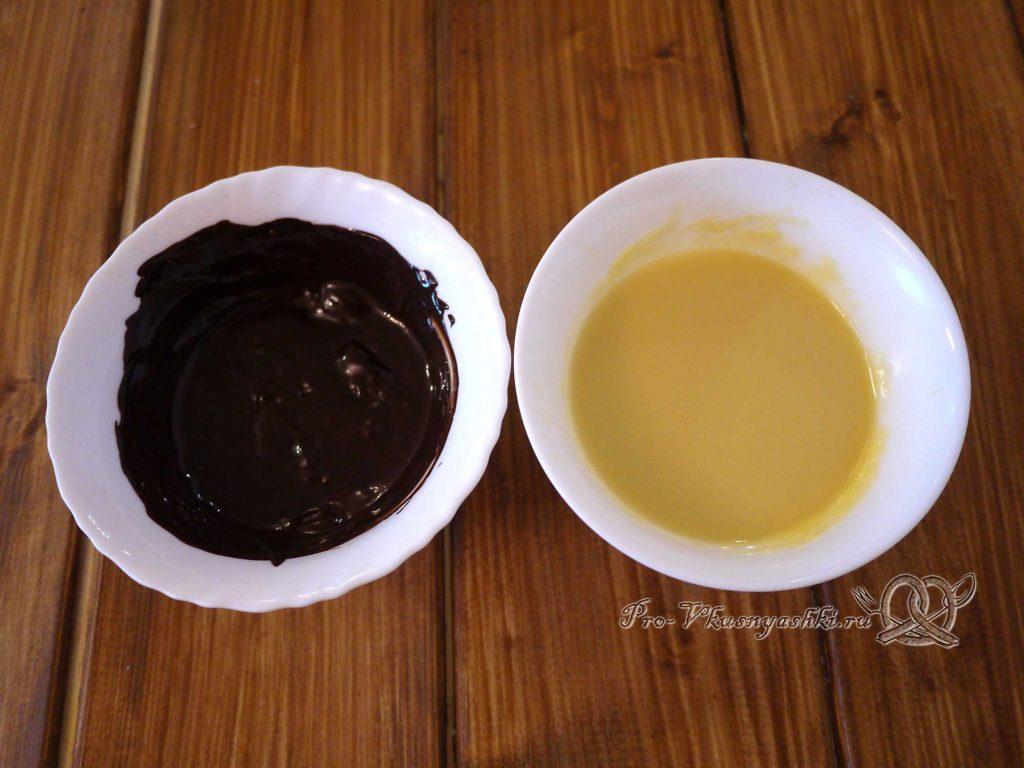 Торт Эстерхази классический - растопленный шоколад