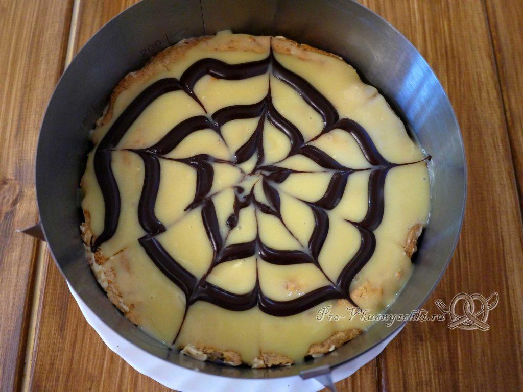 Торт Эстерхази классический - рисуем паутинку
